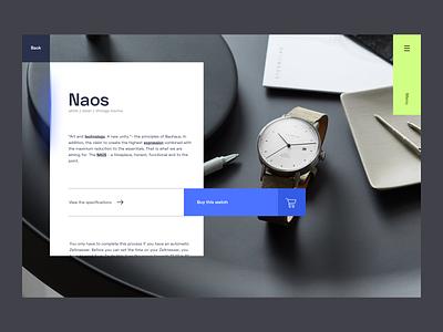 Watch webdesign webshop design web art digital desktop webdesigner photography image white simplicity minimal modern watch blue inspiration interface ui ux webdesign