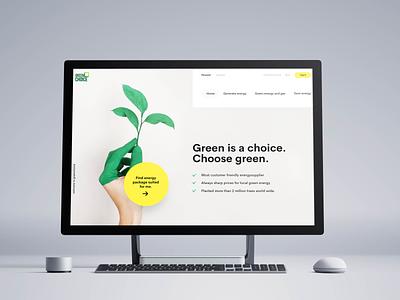 Green energy webdesign uxdesign webdesigner art uidesign digital design redesigned website web inspiration dekstop business company energy green ui ux webdesign redesign