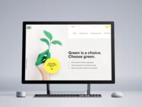 Green energy webdesign