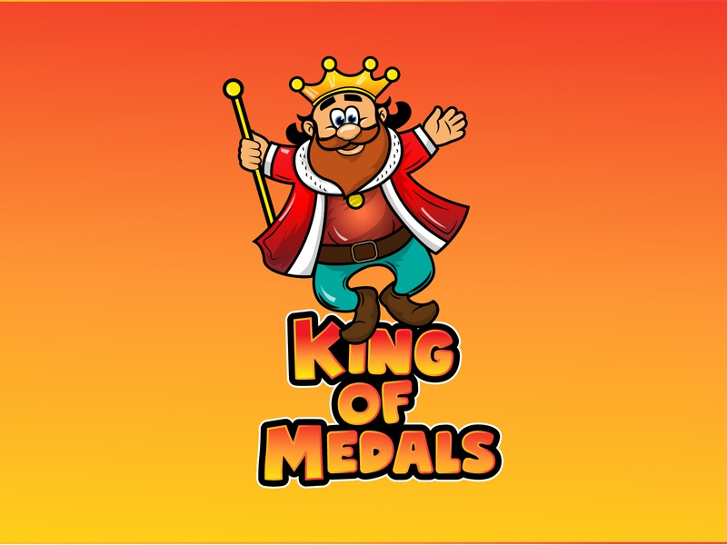 King Of Medals 01 website web caricature animation vector branding mascot logo logo illustration graphic  design design character cartoon