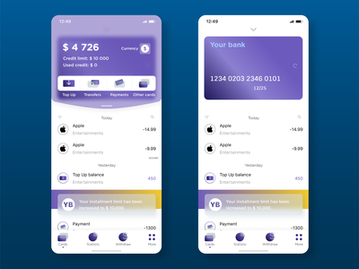Banking app | Glassmorphism :) figma app icon illustration vector flat ux web design ui