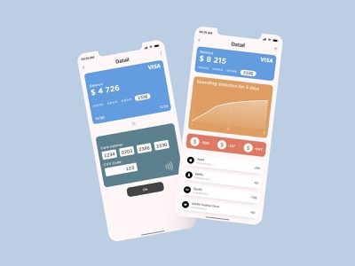 Recent spend screens minimal app icon vector ux ui design