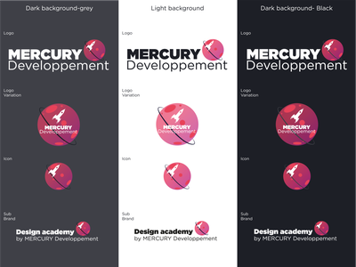 Mercury developpement Logo design mercdev illustrator logo vector contest challenge branding