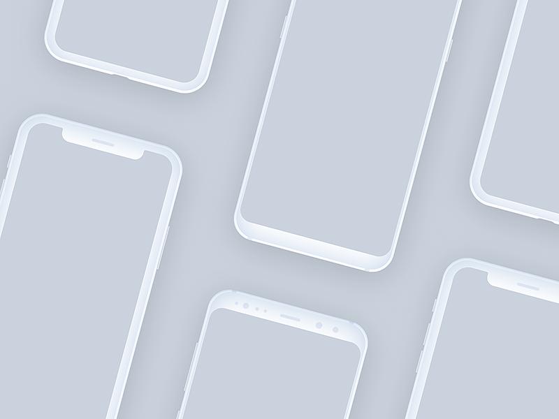 Free iPhone X and Samsung S8 mockups by Alexandr Kochevanov