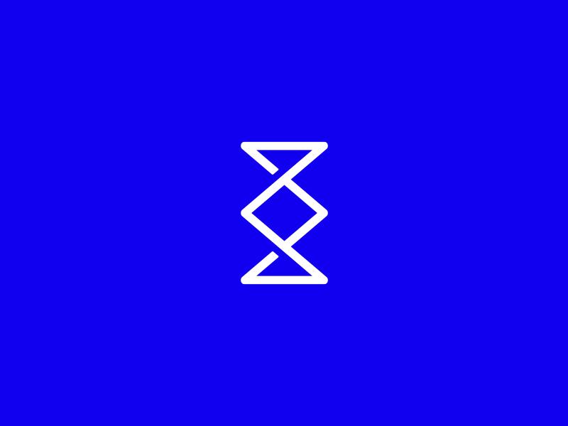 Personal Identity personal identity blue branding identity symbol mark logo epsilon