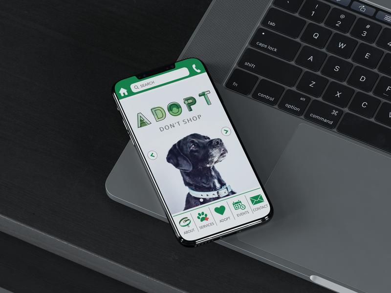 Greenville Humane Society App design web design app