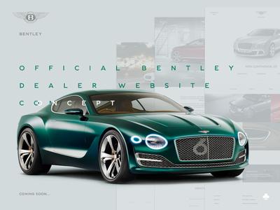 Bentley official dealer website concept artdirection grid ui ux design web bentley concept luxury cars wip