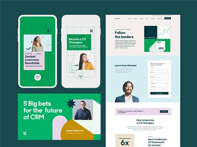 ESG case study 02 performance marketing website facebook ads landingpage design branding integrated campaign zendesk