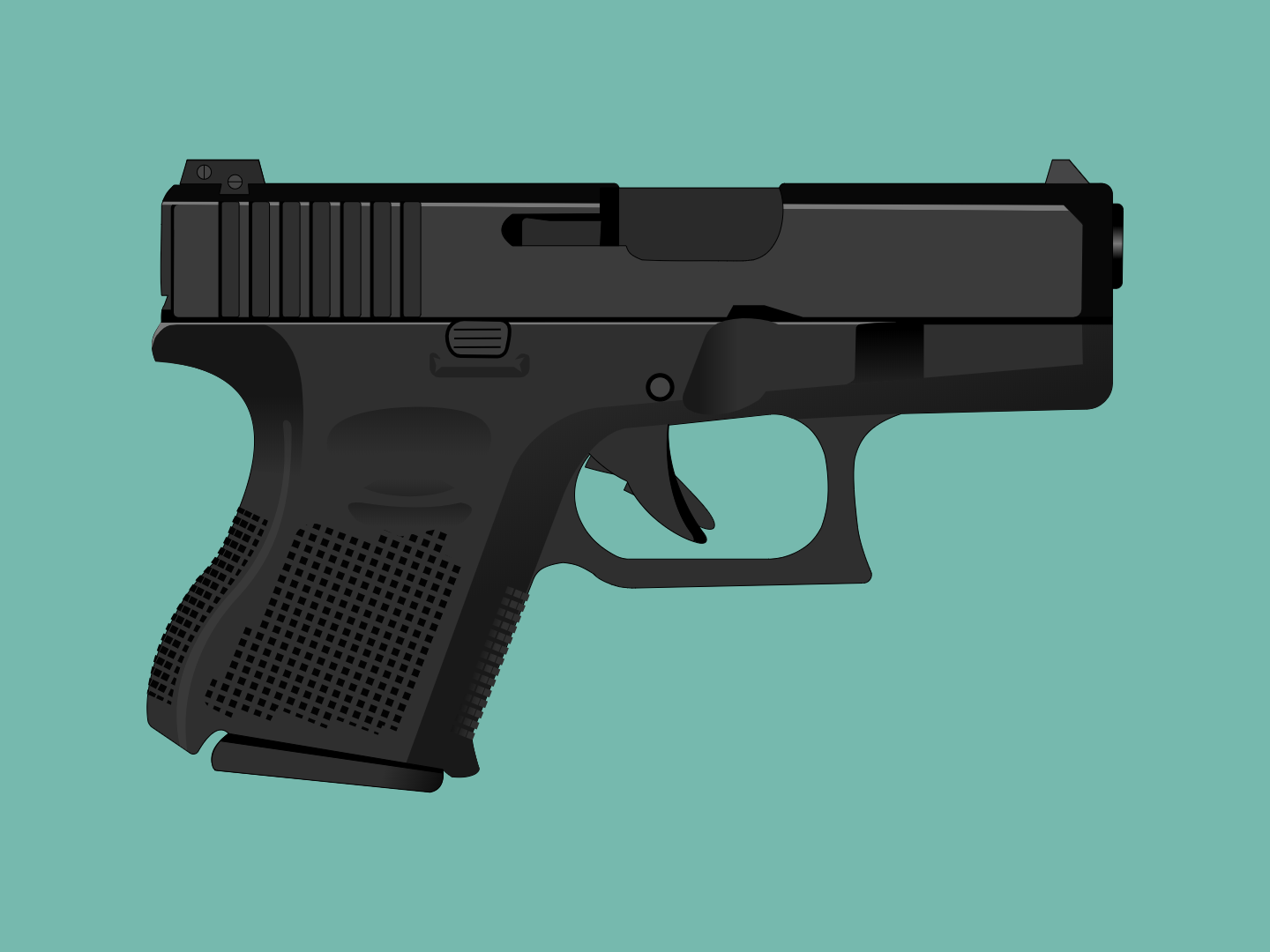 Glock 26 Gen5 9mm Vector Art by Raphael Gonçalves on Dribbble