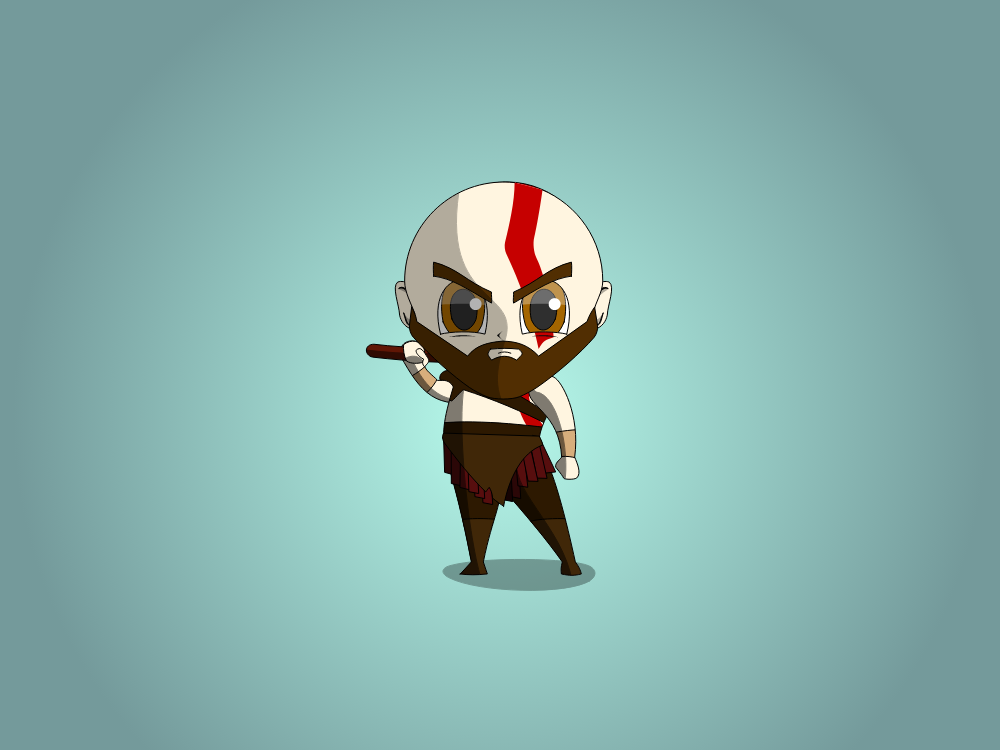 Kratos Chibi vector vectorart drawing god of war godofwar illustration gow fanart chibi characters design character art characters characterdesign caricatures caricature