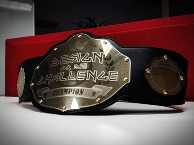 Design or Die Champion Belt