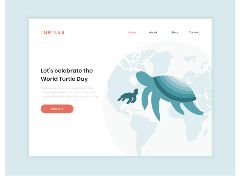World Turtle Day user interface design user interface worldturtleday turtle ilustration illustrator adobe illustrator adobe website design web design webdesign web uidesign ui