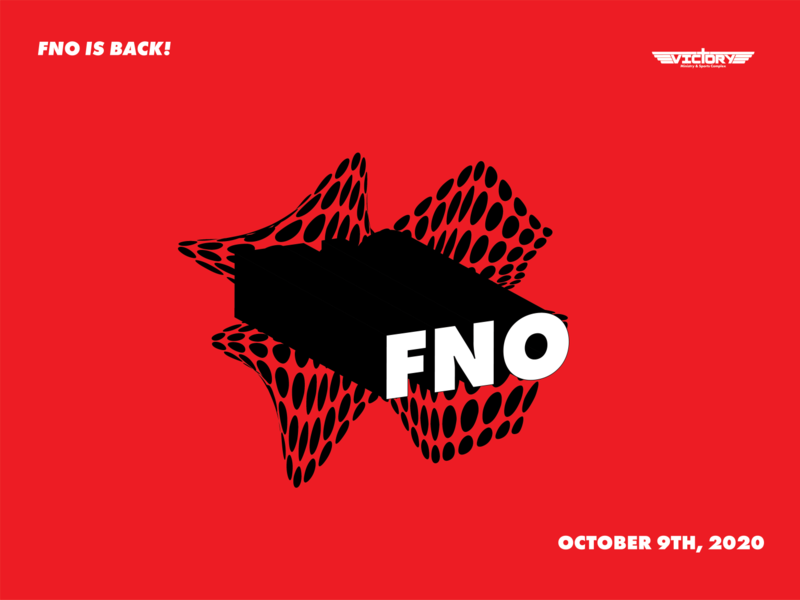 FNO is Back event branding halftone victory black red illustration vector 2d branding design events youth ministry graphics event youth