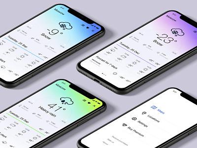 Weather Radar design weather app ios mobile