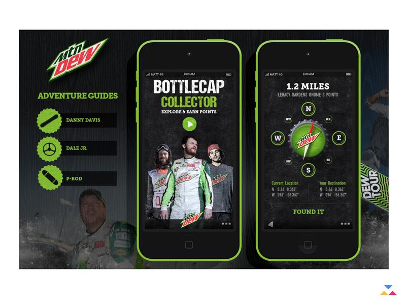 mountain dew ui ux app strategy creative direction uiux product design