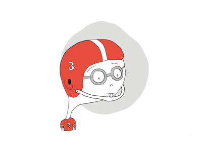Baller art sketch cartoon illustration go team nerd football sports