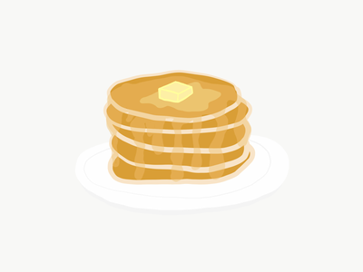 Pancakes sketch cartoon breakfast art pancakes illustration
