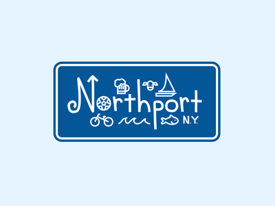 Northport, NY vector design