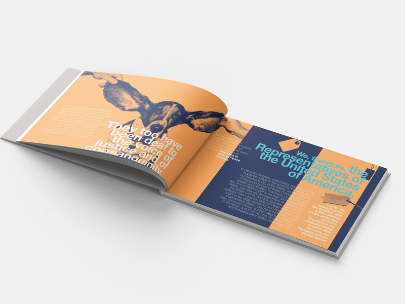 Declaration of Independence - modern take helvetica modern typography tag book layout design dog independence freedom
