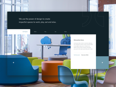 Architecture Projects Block web design homepage humaan ux ui architecture grid block