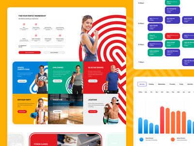 Swan Active Website government round colourful web design humaan ux ui
