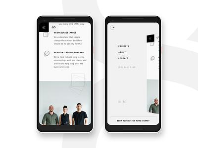 Limitless Mobile Menu perspective mobile menu light web design humaan menu responsive ui mobile home builder grid
