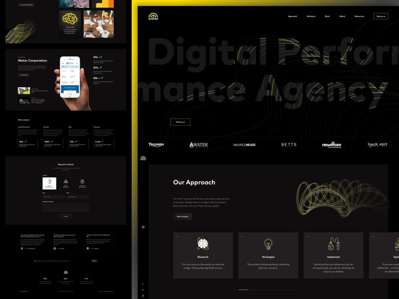 Bonfire Concept seo homepage dark ux web design ui humaan