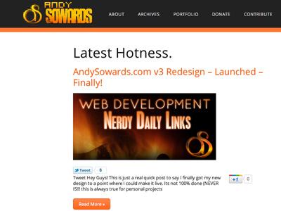 AndySowards.com Redesign v3 design development redesign site wordpress javascript jquery logo