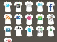 T-Shirt Social Media Icons
