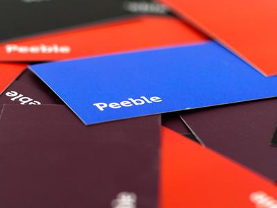 Peeble Business Cards