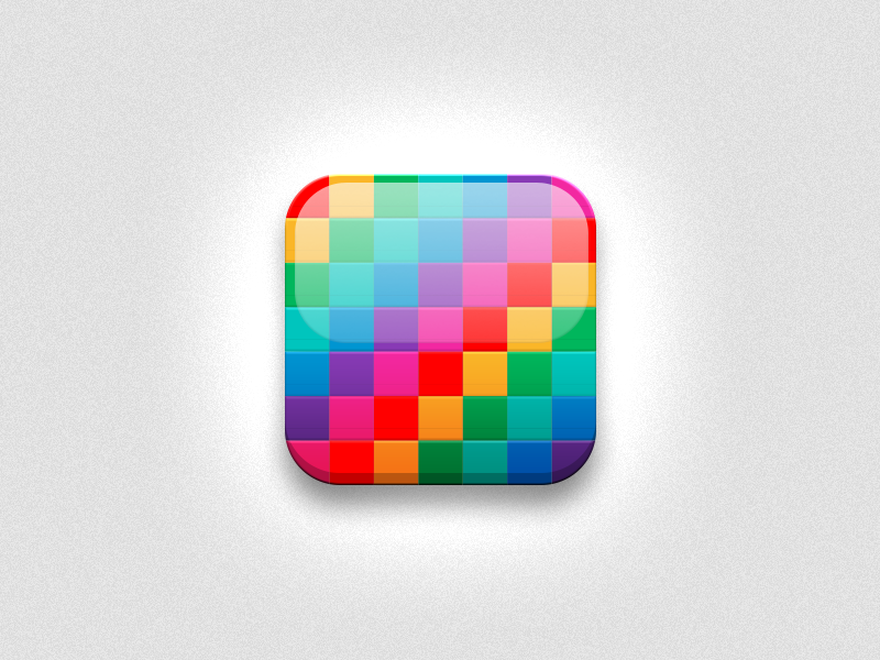 Colourful Icon colour spectrum rainbow icon ios android mobile candy shiny glossy