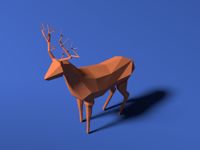 Deer with Shadow