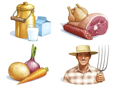 Detailed farm Icons