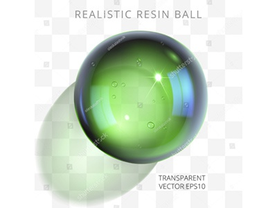 Green epoxy ball