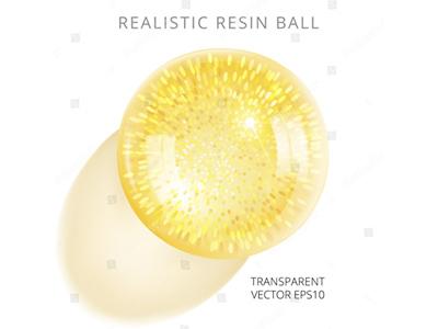 Golden glitter ball