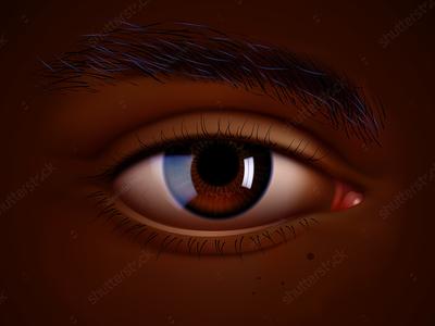 Vector eye of Black