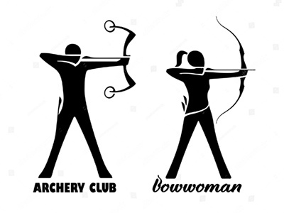 Signs for some Archery Club