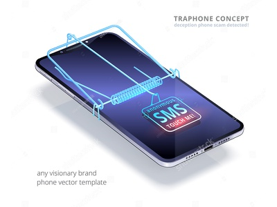 Trapphone mousetrap mouse trap trap smartphone phone steal fraud deception floating device realistic 3d