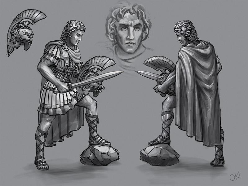 Alexander the Great toy soldier figurine king invader greece emperor leader ancient warrior great macedonian alexander