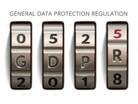 GDPR notification banner in the form of combination lock