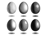 Vector engraving Eggs