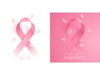 Vector pink ribbons