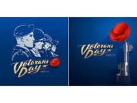 Veterans Day. Vector stickers