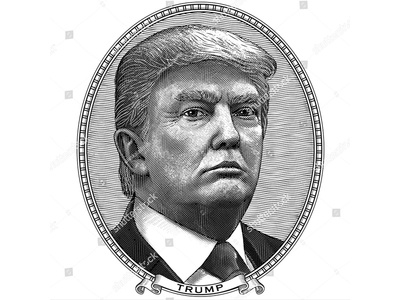 Donald Trump in the vintage style