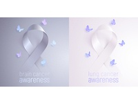 Ribbons of awareness: brain and lung cancer