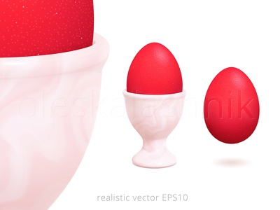 Vector egg cup with a marble texture icon luxury 3d isolated clipart image easter royalty free boiled fluid marble realistic vector painted red egg server holder eggcup egg cup egg