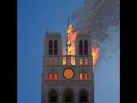 Notre Dame on fire. Sad...