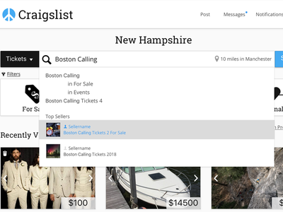 Curated Craigslist Redesign function search sketch design interface user redesign craigslist