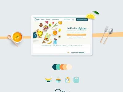 Redesign Qilibri - The end of diets minimal website vector ux icon illustration ui web branding design