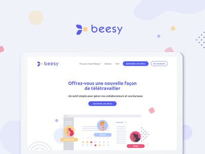 Beesy minimal website vector icon typography web illustration ui design branding